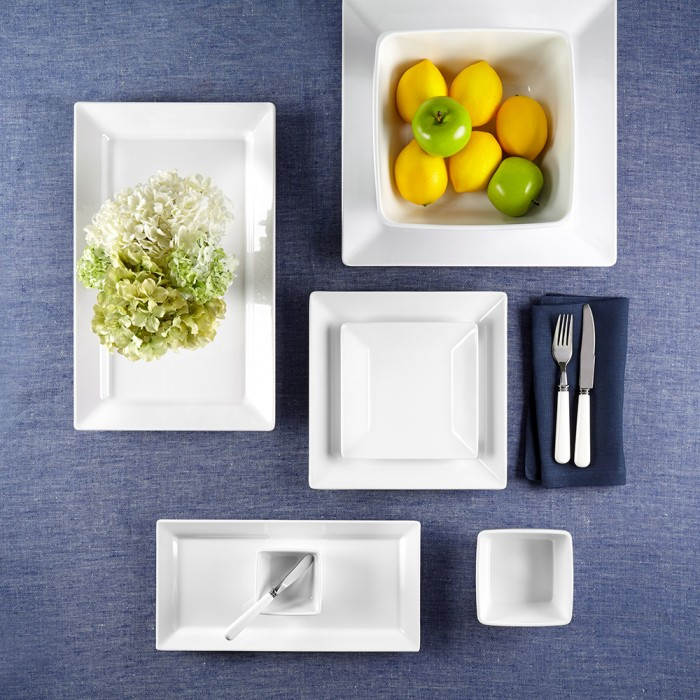 Q Squared: DIAMOND SQUARE 12PC MELAMINE DINNERWARE SET