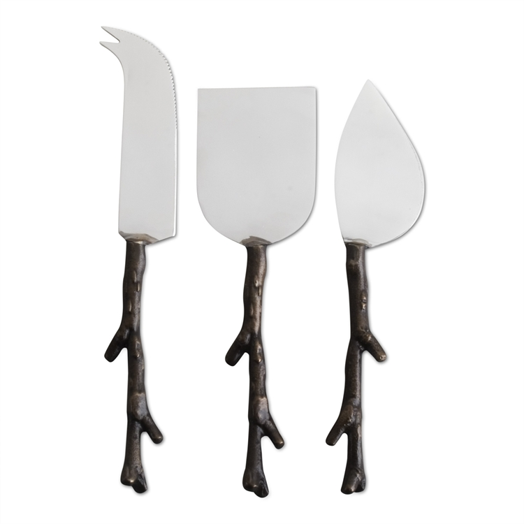 TAG: twig handled cheese utensils set of 3