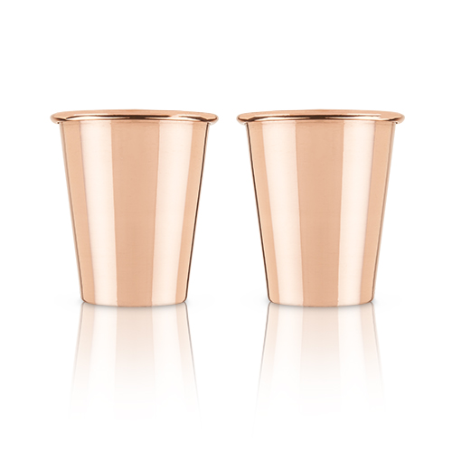 True Brands: Mercer™ Solid Copper Shot Glasses