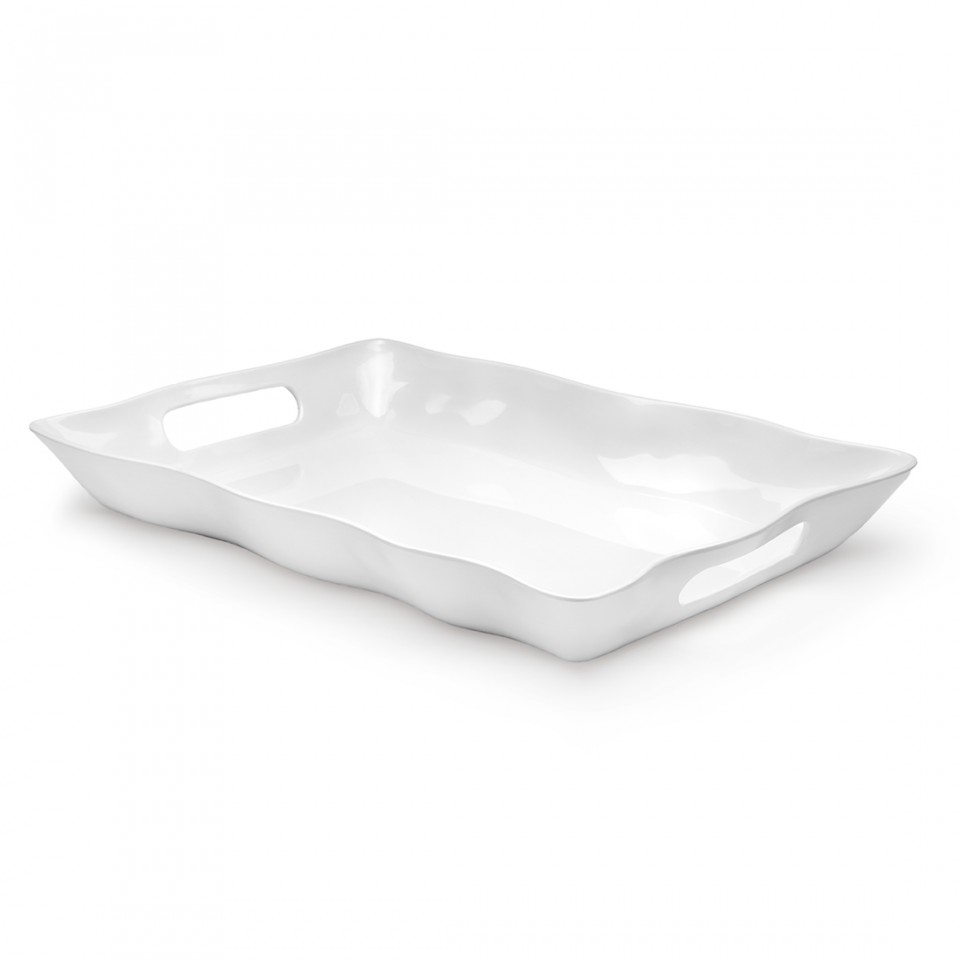 Q Squared: RUFFLE LARGE RECTANGLE TRAY