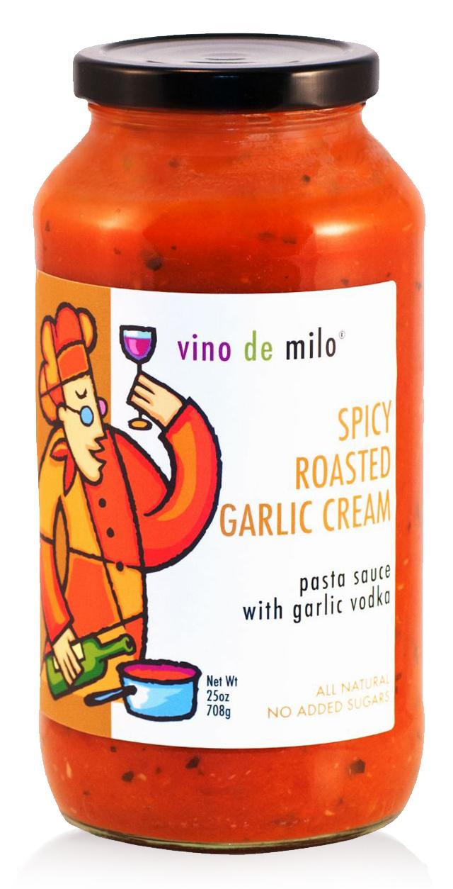 Spicy Roasted Garlic Vodka Cream