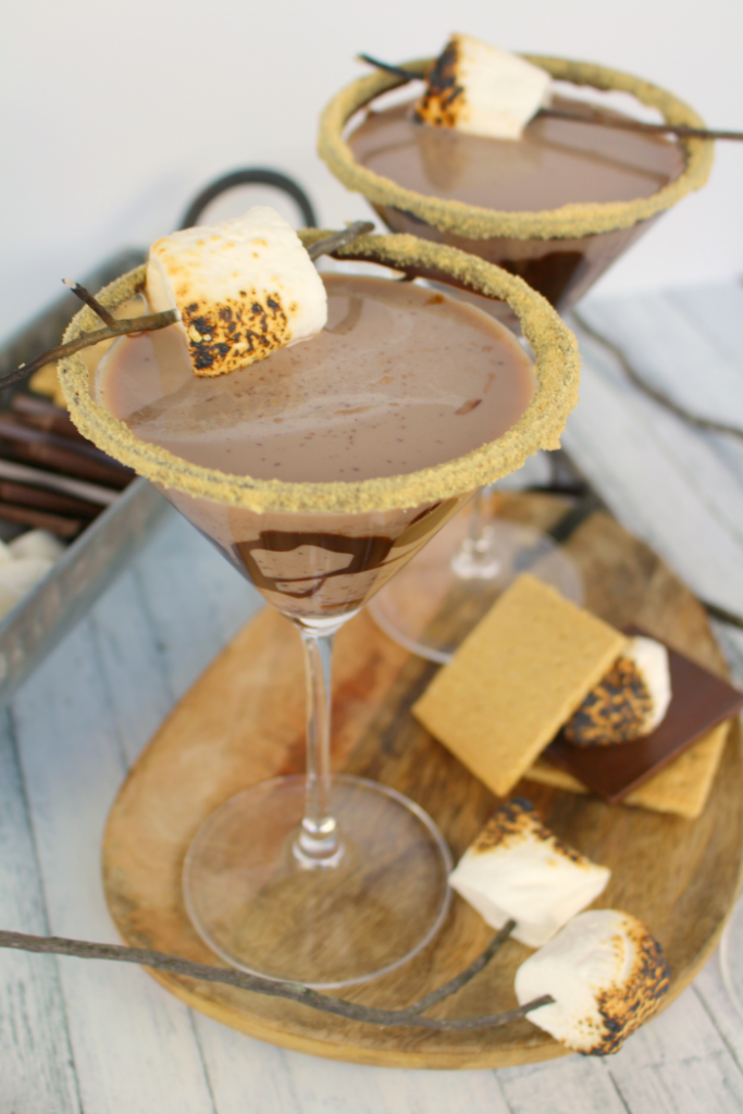 Double Chocolate S'mores Martini