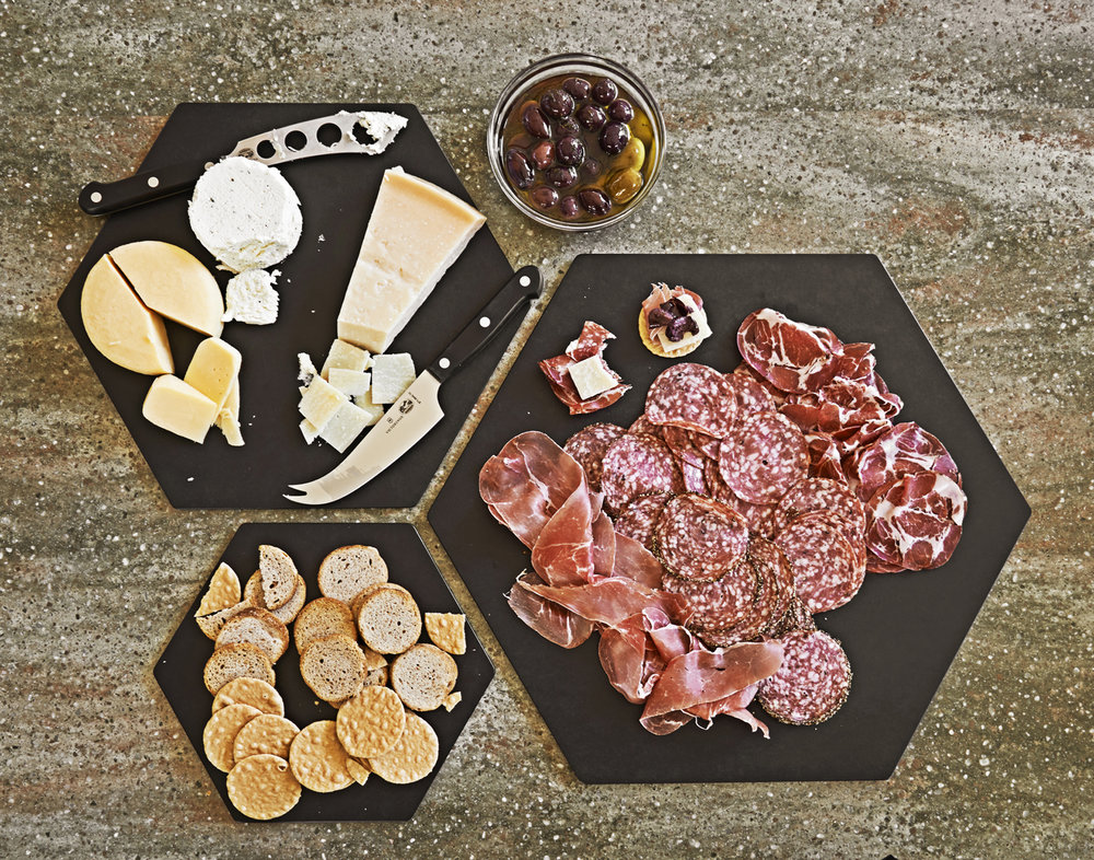 Epicurean: Slate Display Hexagon Series Board