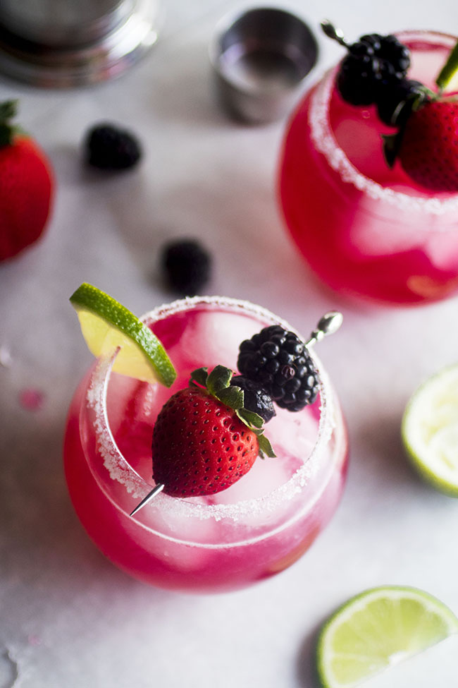TRIPLE BERRY MARGARITAS