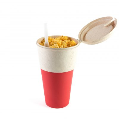 Snack/Popcorn and Drink cup Red