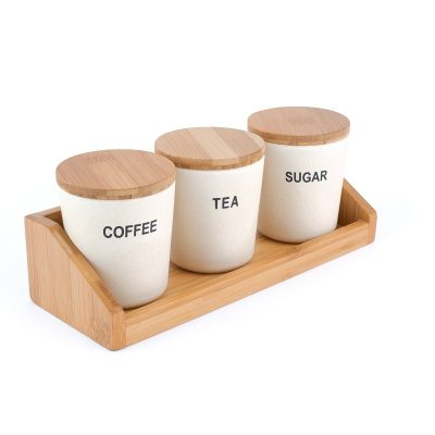 3-Piece SET: Round Storage Containers -White