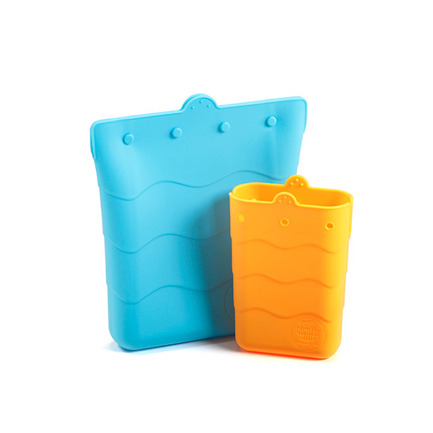 Kinderville: Snack/Sandwich Pouch Blue/Orange