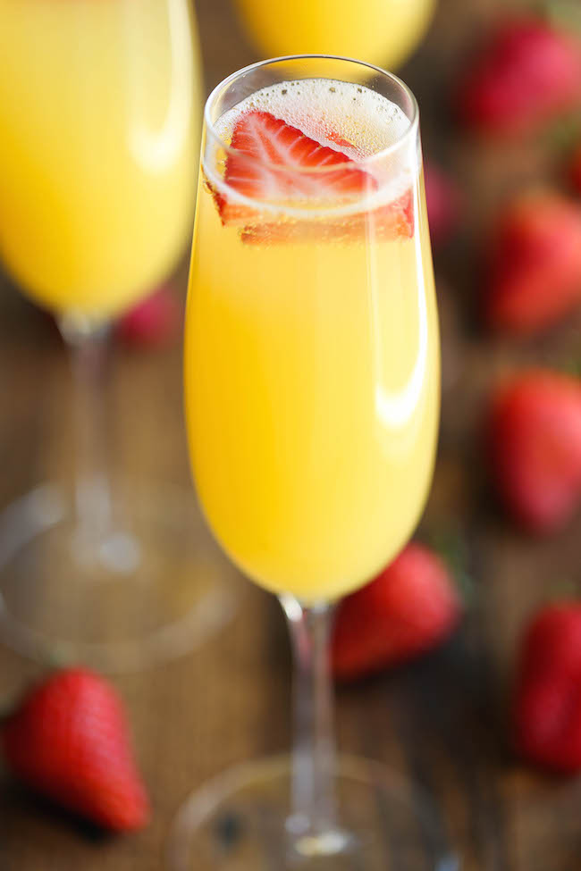 STRAWBERRY PINEAPPLE MIMOSAS