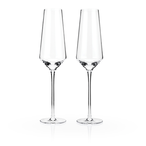 TRUE Brands: Raye Crystal Champagne Flutes