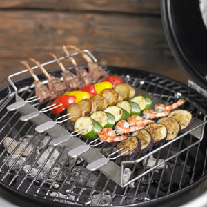 Rosle: Grilling Kabob Rack with Skewers