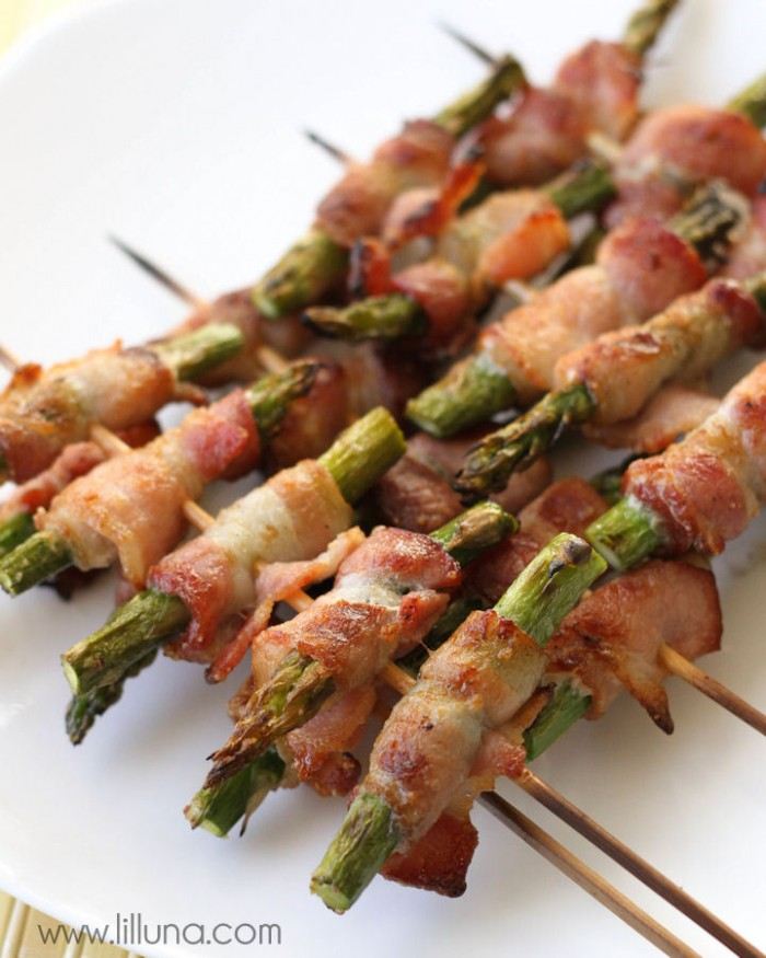 Bacon Wrapped Asparagus Skewers
