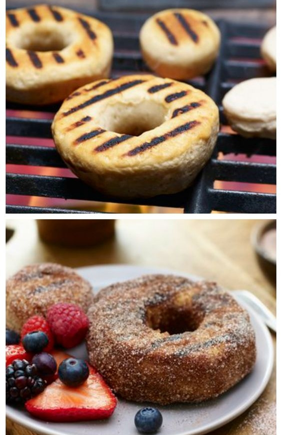 CINNAMON SUGAR GRILLED DONUTS