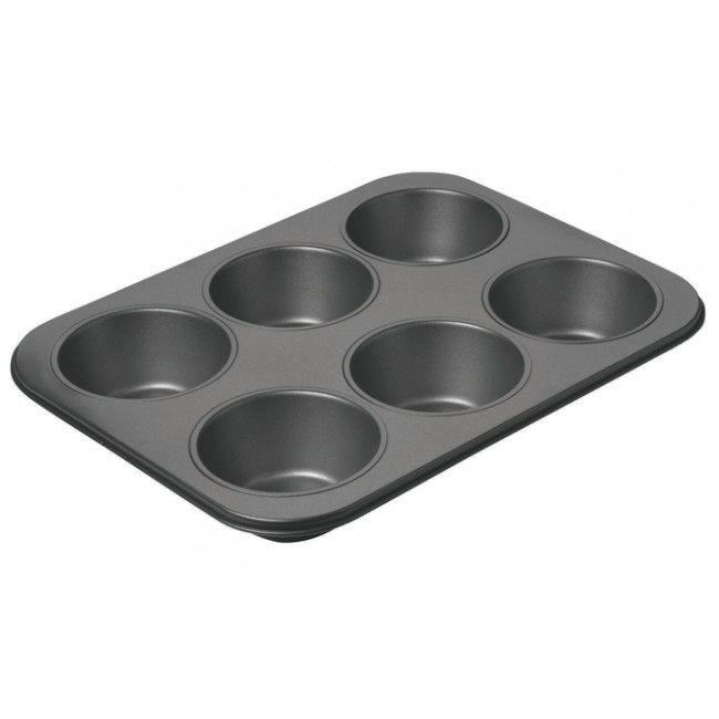 Chicago Metallic: Non-Stick 6 Cup Giant Muffin Pan