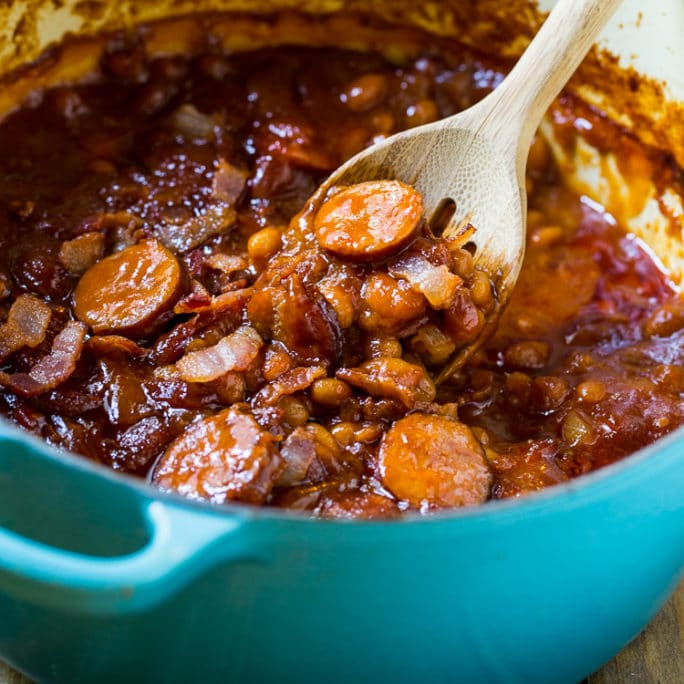 Smoked Sausage Baked Beans