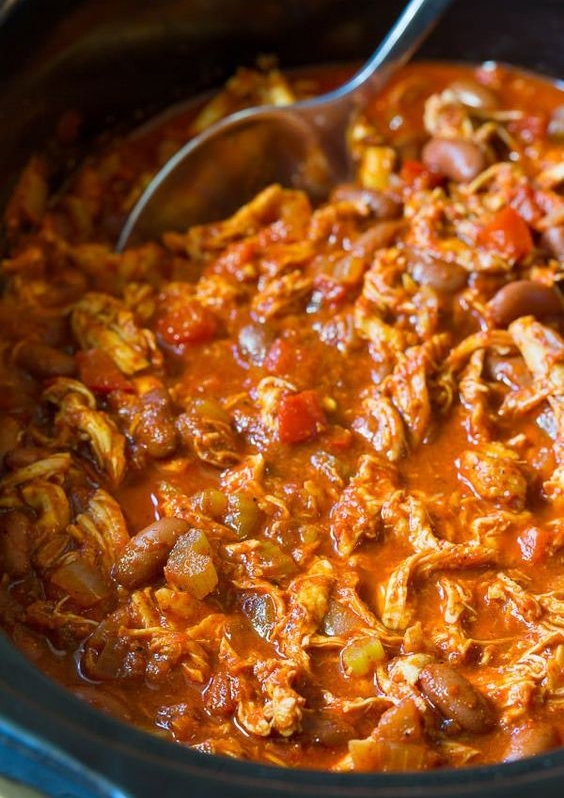 Roasted Red Pepper Chicken Chili