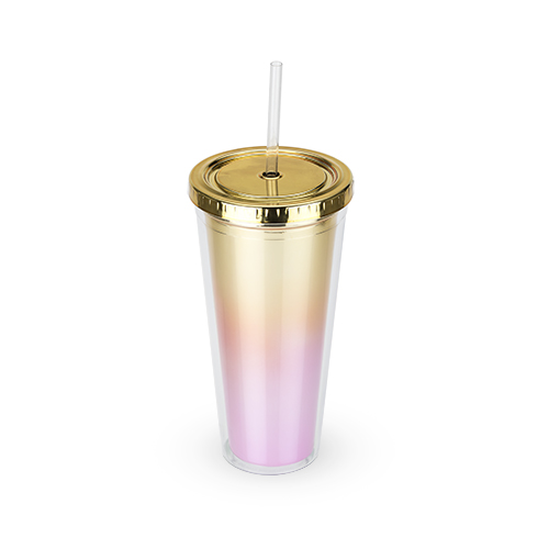TRUE Brands: Metallic Ombre Tumbler Bougainvillea