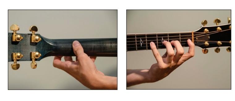 Posición mano izquierda guitarra
