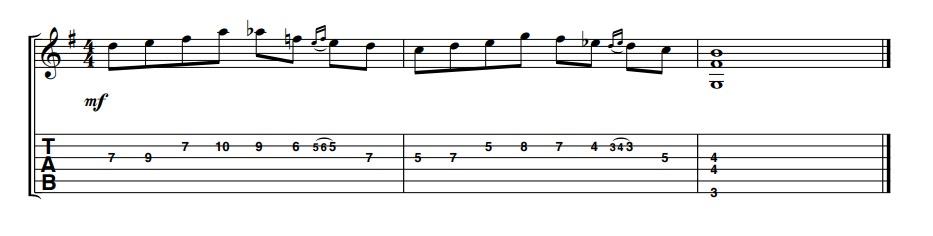 Lick guitarra bebop jazz