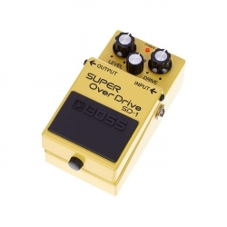 Pedal overdrive boss guitarra