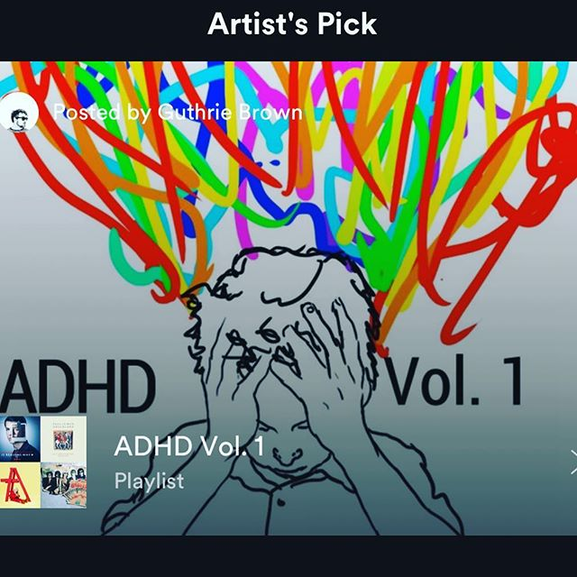 I've made a new @spotify playlist called ADHD Vol.1 - it has classic stuff, newer stuff, stuff that makes me dance, stuff that makes me think about stuff, stuff that my friends made, and .. oh look an ice cream truck! Link is in z bio - FOLLOW PLEASE! Or don't it's cool