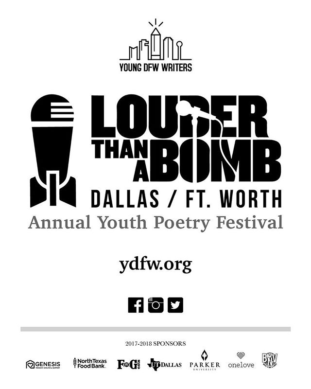 This weekend, you can catch some of the students within the YDFW LTAB program, marching in Garland's 29th Annual MLK Parade and March. They'll be passing out donated books to help encourage reading & performing poetry along the route.  Sat Jan 13, 2018 at 10am. Parade starts at Dairy Road @ Garden Drive (near Embree Park). You can find more information at www.visitgarlandtx.com/events