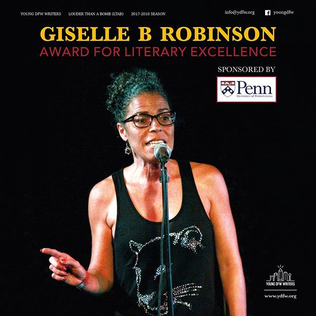 Since 2015, YDFW has been honored to have a unique award we present annually to an LTAB student for the best written poem, in honor of local & Nationally known poet, Giselle B Robinson.  This year, we are so grateful to @universityofpennsylvia sponsoring the Giselle B Robinson award  where we will be able to send (2) students in their Jr or Sr year to their Summer Workshop for Young Writers at the Kelly Writers House (valued over $3,000/ea). For more information, please visit our website at www.ydfw.org or our Facebook page.