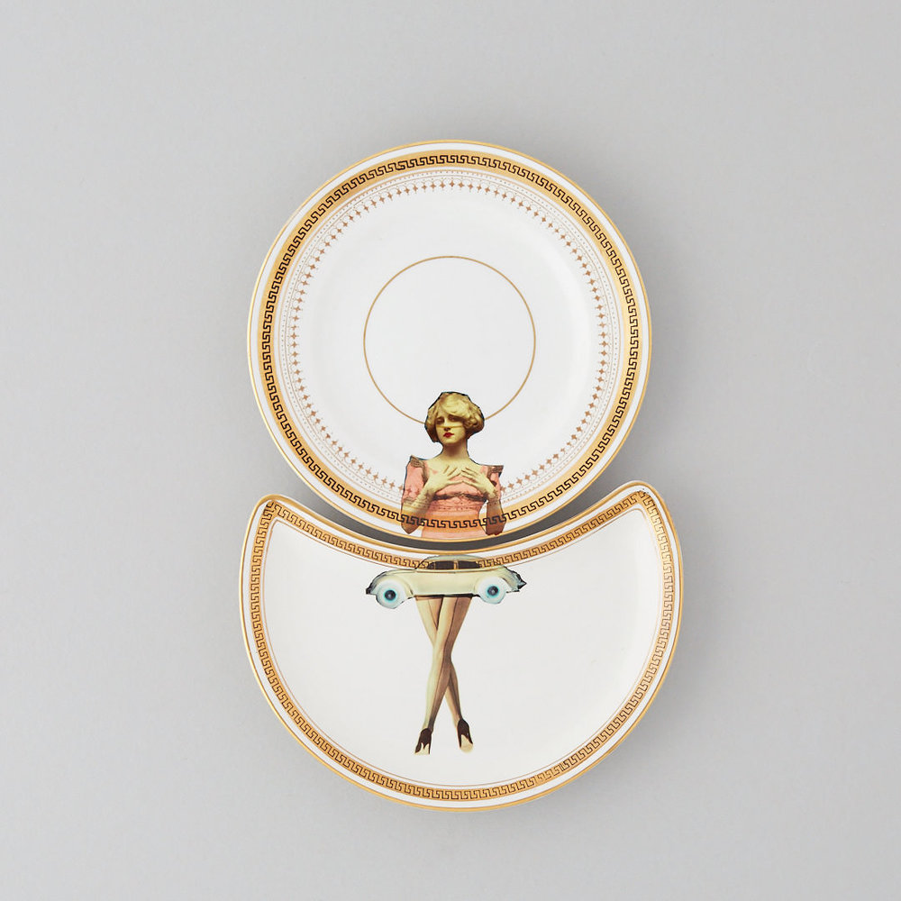 The Classic Collection - The original designs of the upcycled vintage range are designed to give a sought after, contemporary twist to the classic, decorative plate. By using a variety of images juxtaposed with the original designs, the plates are designed to work individually or in pairs. Some are matched, others are mismatched adding to the charm of this upcycled decor.But all are guaranteed to be a talking point and to raise a smile when displayed on a wall.And every piece is unique, defining this collectable, decorative range.