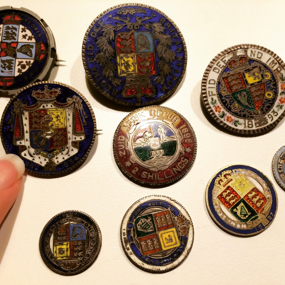 Enamelled Coins