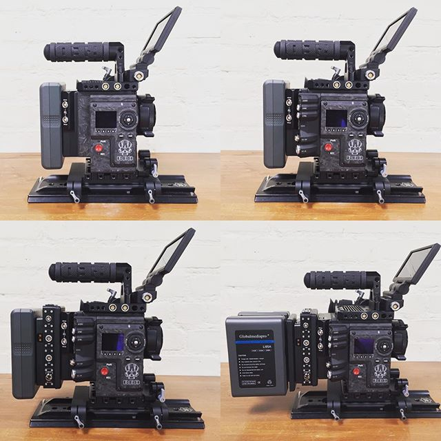 Keeping it modular.  #redweapon #reddigitalcinema #switronix #woodencamera #elementtechnica #cinematography #setlife #cameraprep