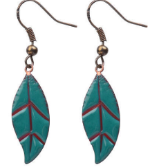 BUY HERE   Our New Leaf earrings represent turning a new leaf in your life and the lives of Cherished women. These earrings are created by a process known as enameling. Our survivors use blow torches and glass powder to create these beautiful pieces of art.  Handmade by Cherished artisans.