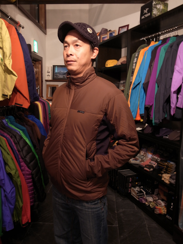 This is his closet, not an Arcteryx Store