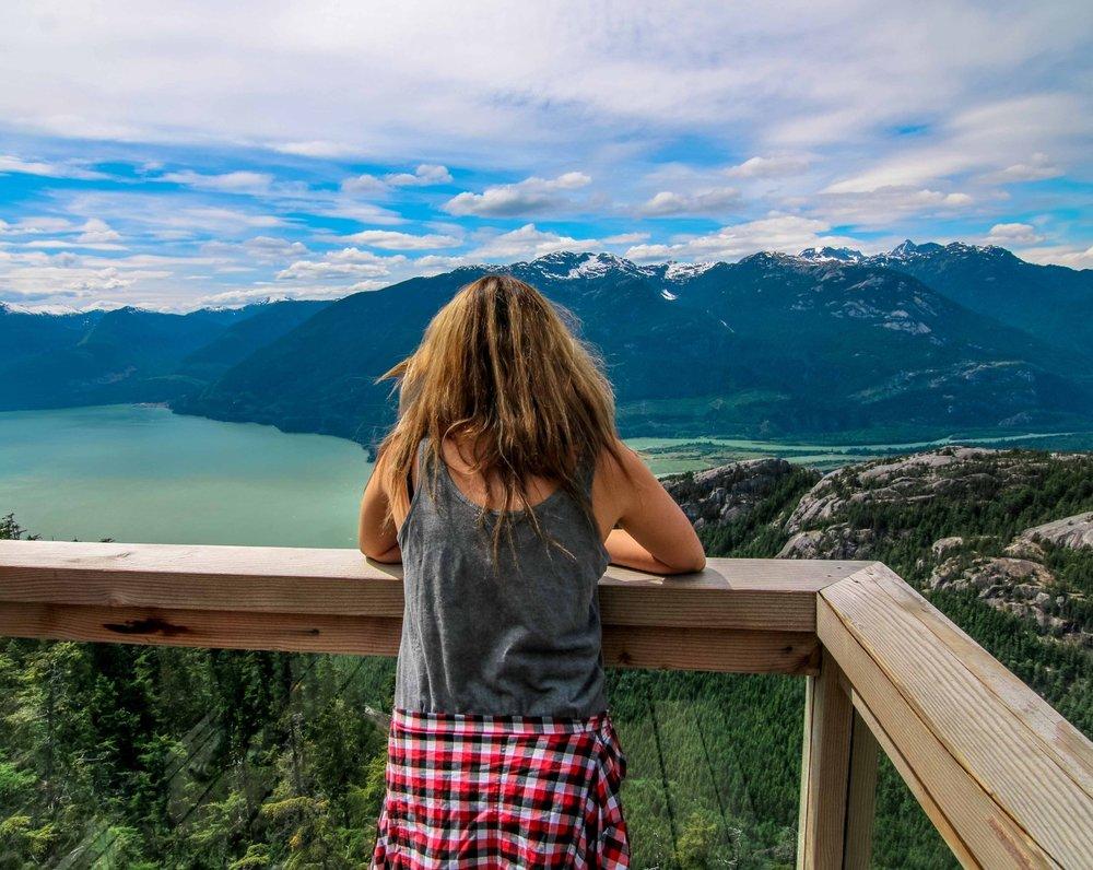 Nadine enjoying the view  (image source:heynadine.com)