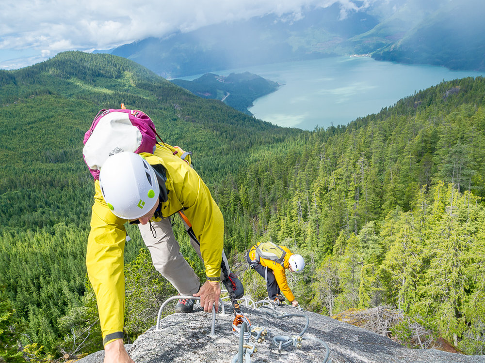 Via ferrata on pebbleshoe.com. An exciting hybrid of hiking and climbing.