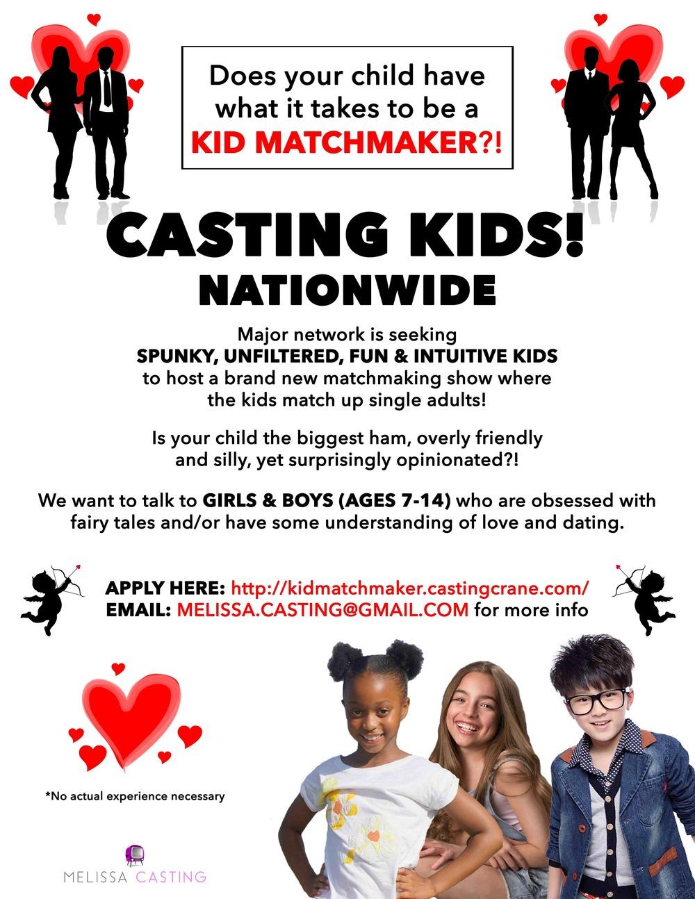 Kid Matchmaker Casting | Melissa Casting