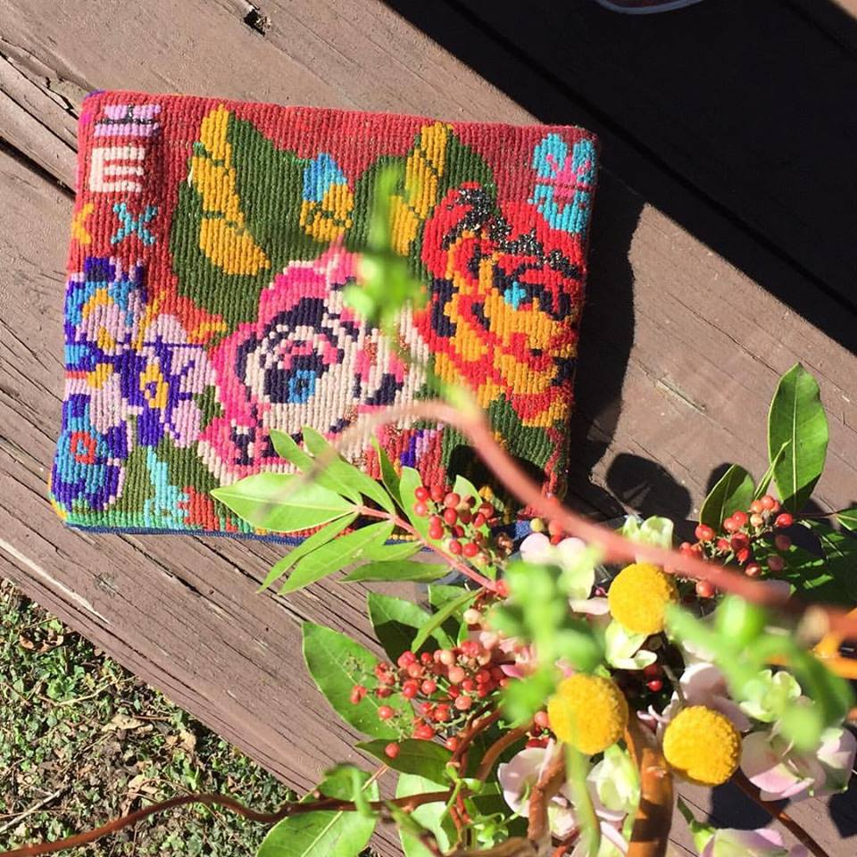 needlepoint from my childhood #inspiration #todaysflowers #americanwomanflowers