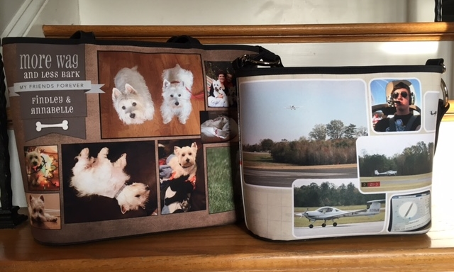 Photo brag bags make great gifts