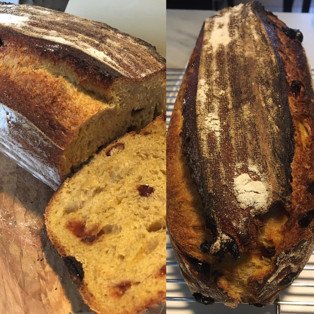 butternut squash and dried cherry sourdough
