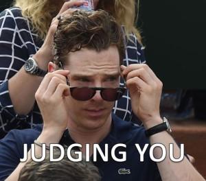 judging you