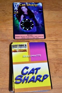 Cat's deck and character card based on the new Wild Card cover.
