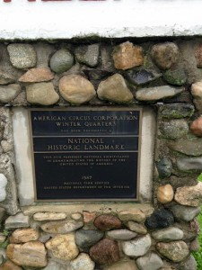 The plaque at the museum marking the area as a national park.
