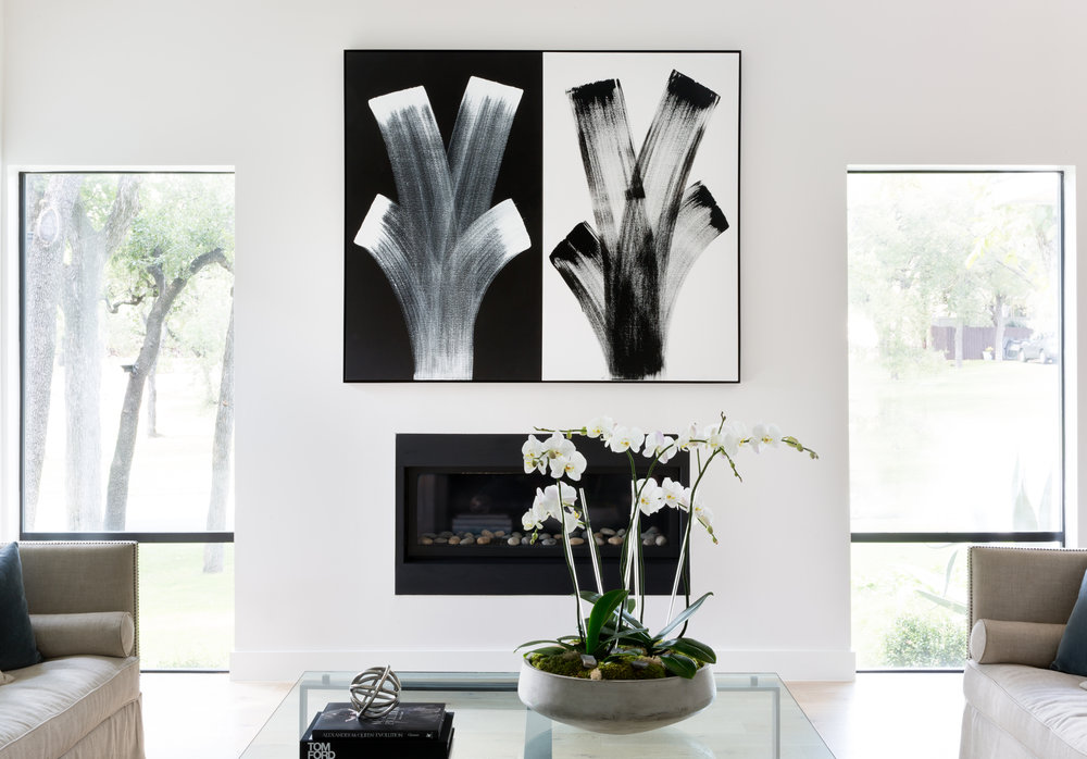 Rollingwood private residence, diptych painting by Gert Johan Manschot