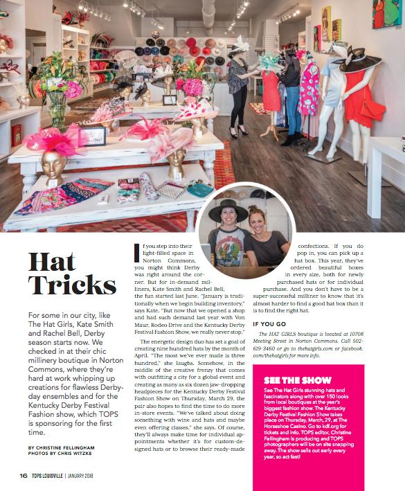 TOPS Louisville Magazine (January 2018)