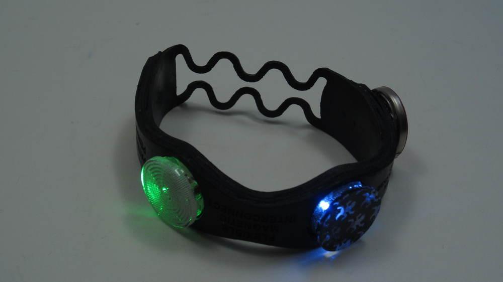 Rubber bracelet powered