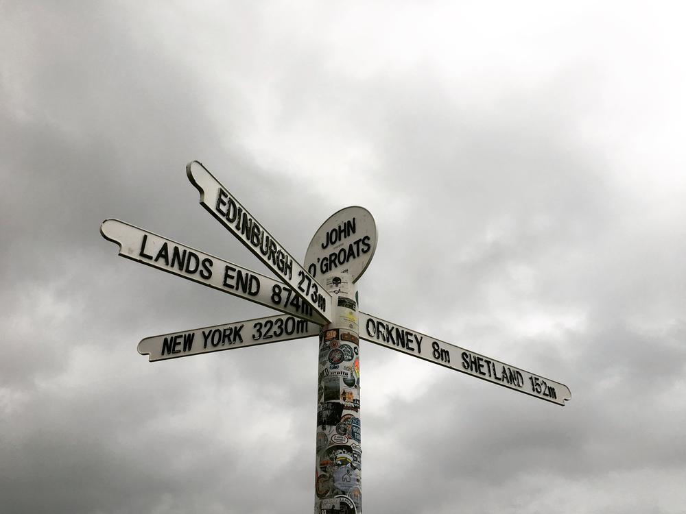 the John O'Groats sign post