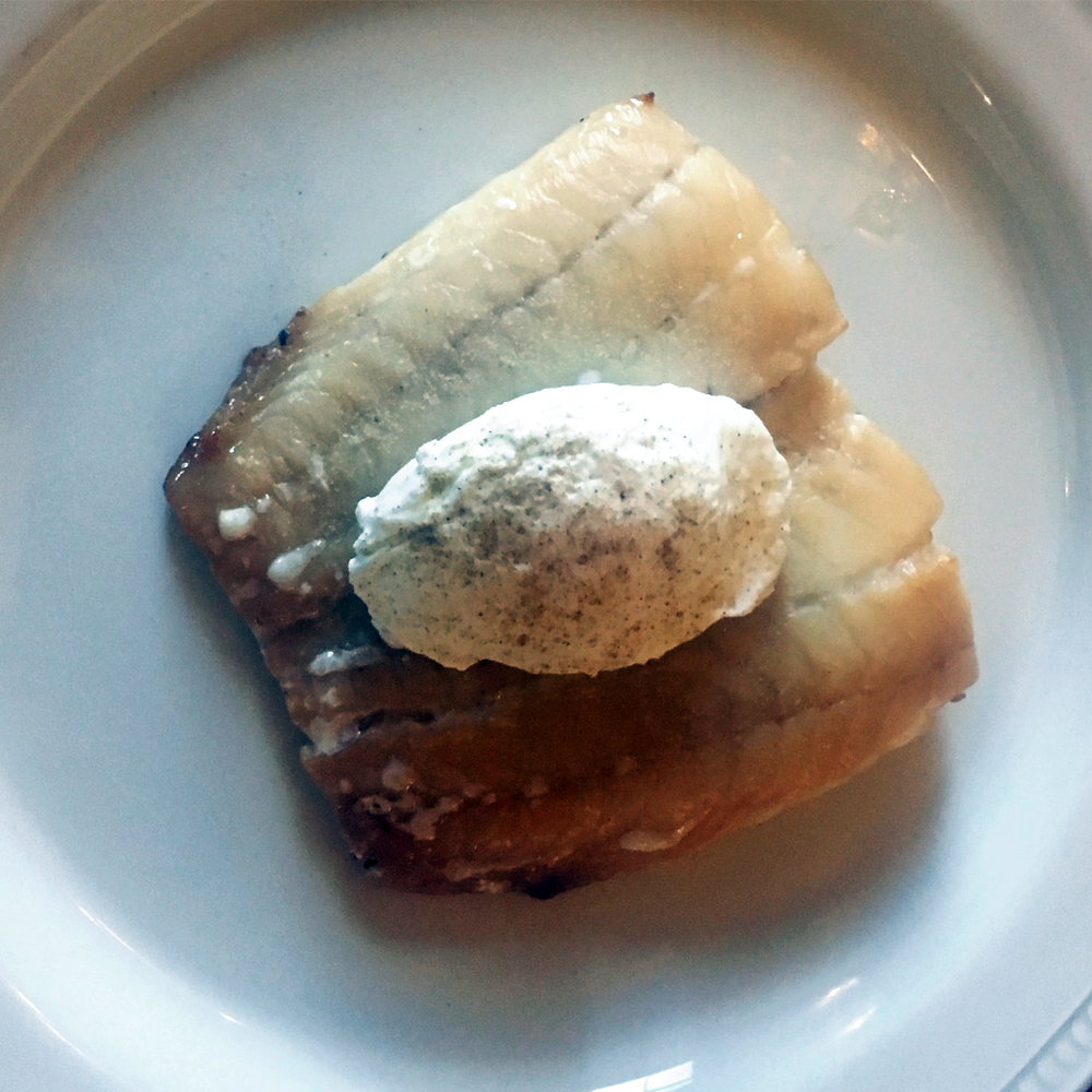 traditional scottish kippers for breakfast with a poached egg on top