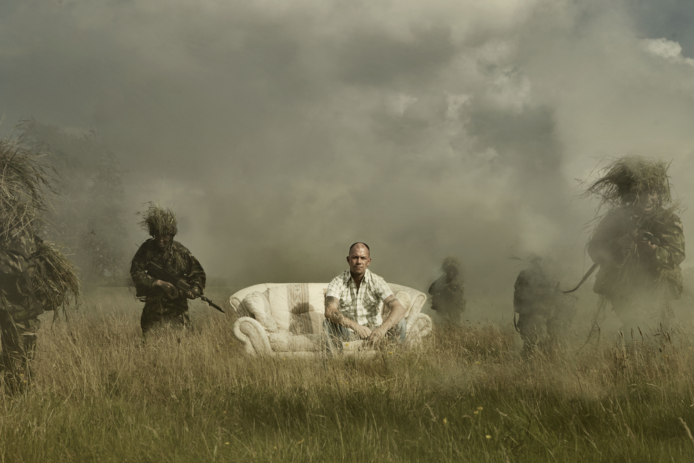 soldier and sofa shoot for SVR