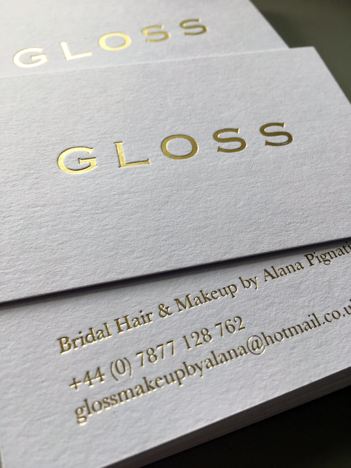 Work caddieco gloss business card design for a makeup artist colourmoves Images