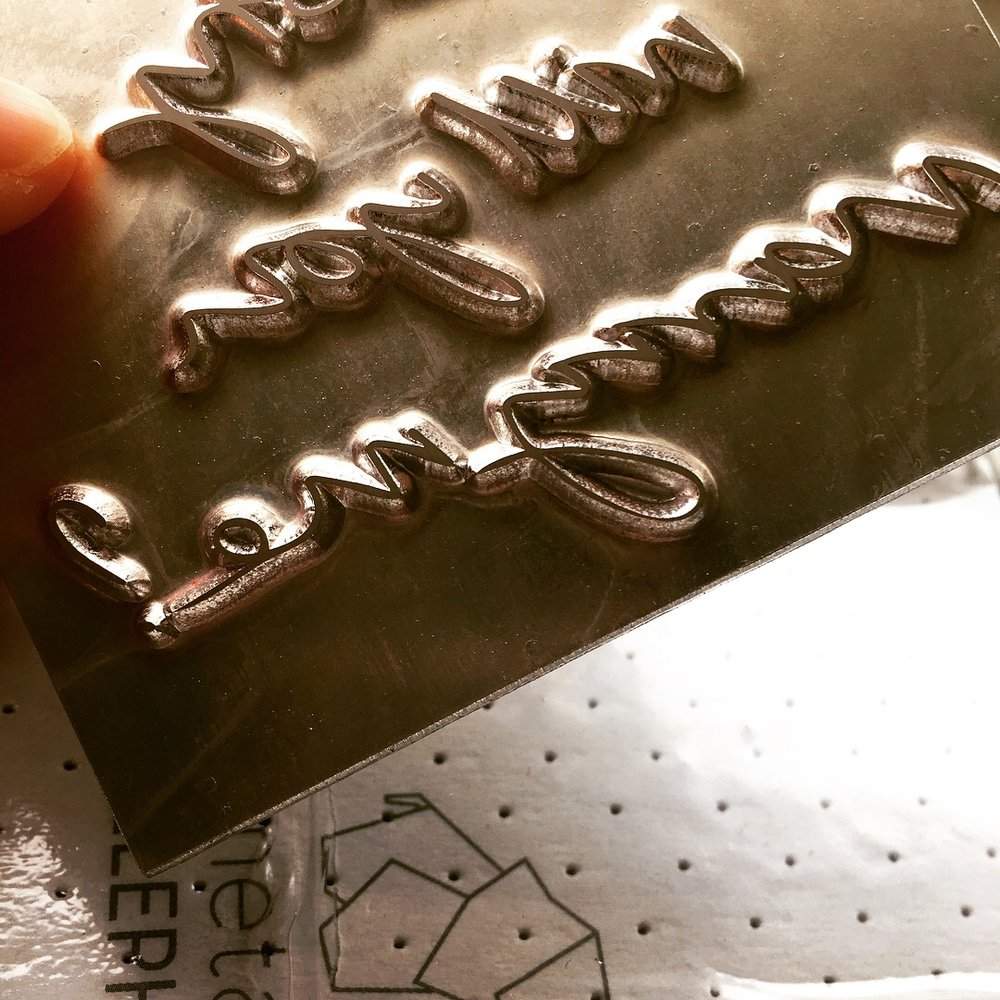 Metal die for printing