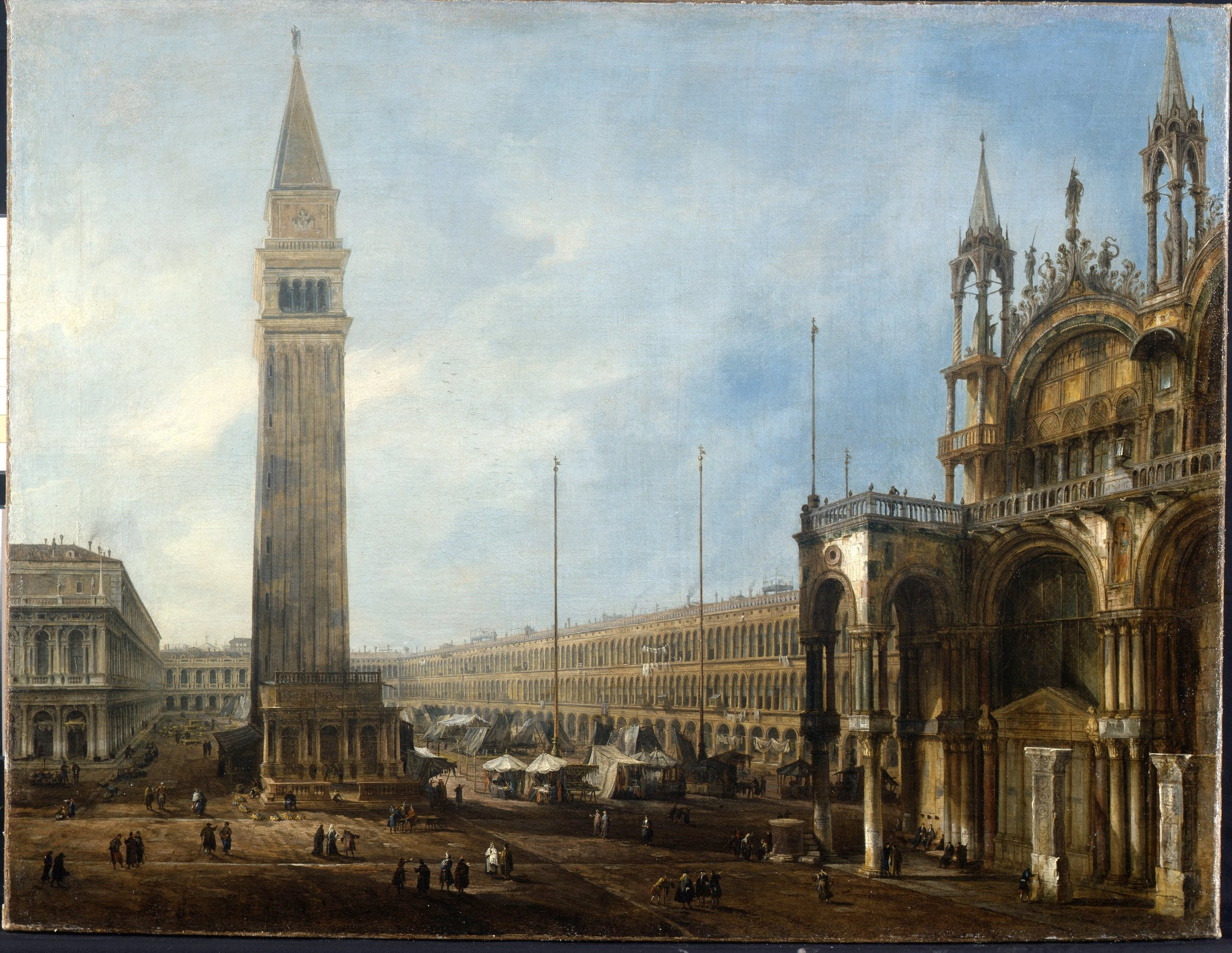 "Canaletto, ""Venice: The Piazza San Marco, Looking West from the North End of the Piazzetta"" Oil on canvas 65 x 95 cm Princely Collection of Liechtenstein, Vienna"