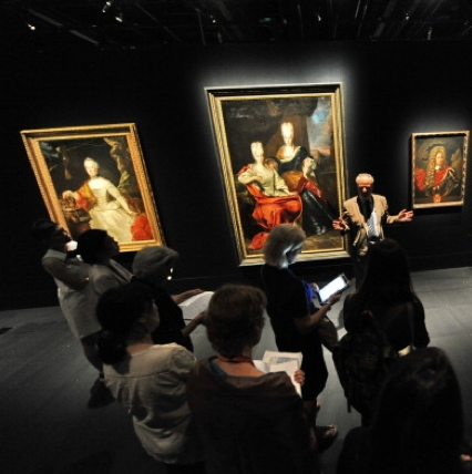 Dr Johann Kraftner during the press preview of the Liechtenstein exhibition at the National Museum of Art, Singapore